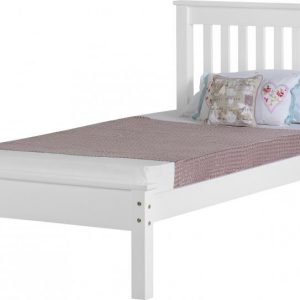 3' Single Wooden Low End Bed Frame - White