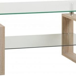 Sonoma Oak Glass Coffee Table