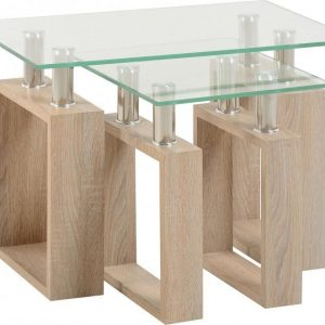 Sonoma Oak Glass Tables