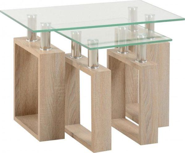 Sonoma Oak Glass Tables