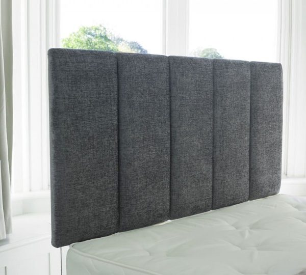 Verticle Panel Chenille Headboard