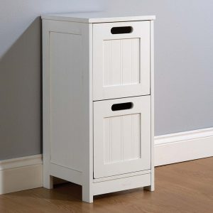 White Bathroom 2 Drawer Slim Chest