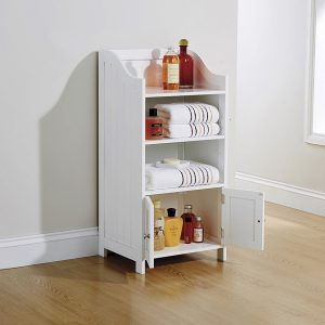 White Bathroom 2 Door Deluxe Cupboard - Colonial Bathroom Furniture