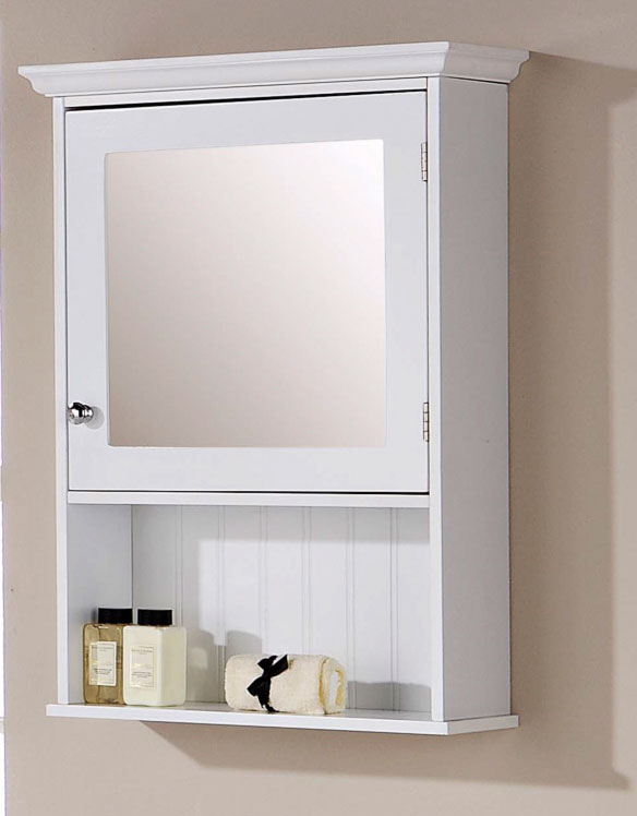 Ordinaire White Mirrored Cabinet