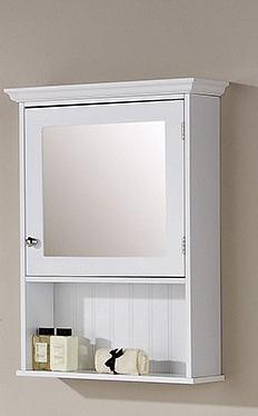 White Mirrored Cabinet - Colonial Bathroom Furniture