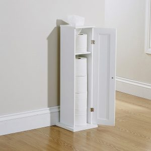 White Bathroom Toilet Roll Cupboard