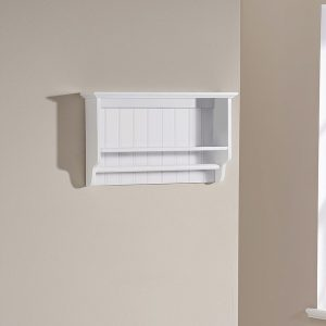 White Bathroom Towel Rail Shelf