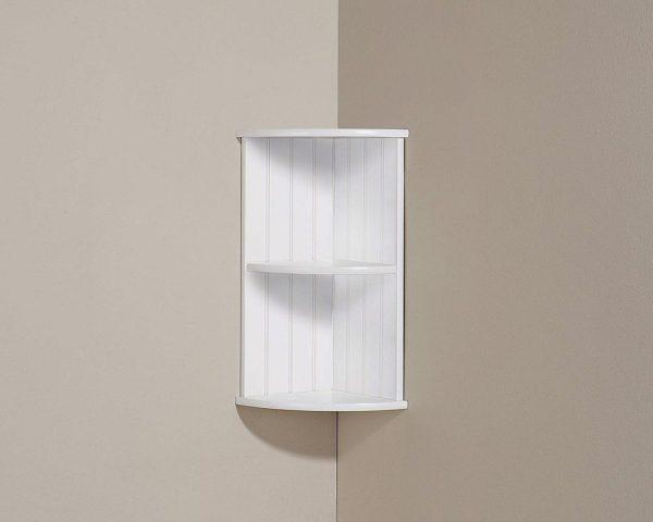 White Corner Wall Shelf Unit - Colonial Bathroom Furniture