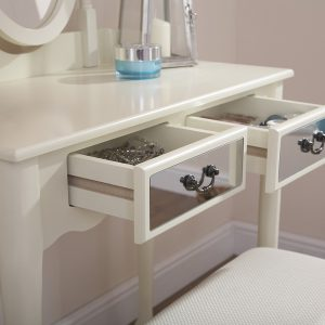 Mirrored Dressing Table Set - Available in 2 Colours