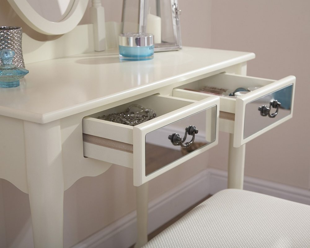 Mirrored Dressing Table Set - Available in 2 Colours - One Stop ...