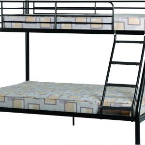 Black Triple Sleeper Metal Bunk Bed Frame