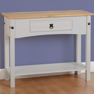 Corona Grey/Distressed Pine 1 Draw Console Table
