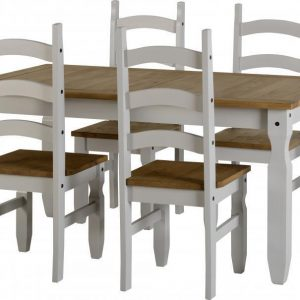 Corona Grey / Distressed Pine 4 Chair Dining Set