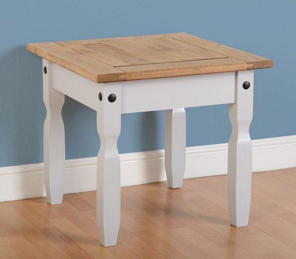 Corona Grey / Distressed Pine Lamp Table