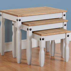 Corona Grey / Distressed Pine Tables