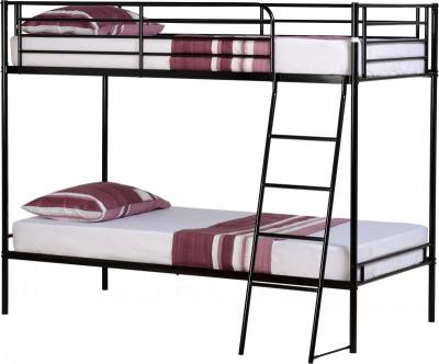 3' Single Black Metal Bunk Bed Frame