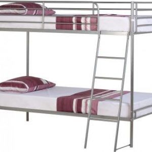 Silver Metal Bunk Bed Frame