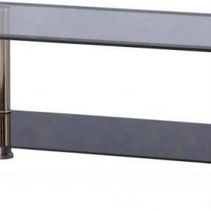 Black glass / Chrome Coffee Table