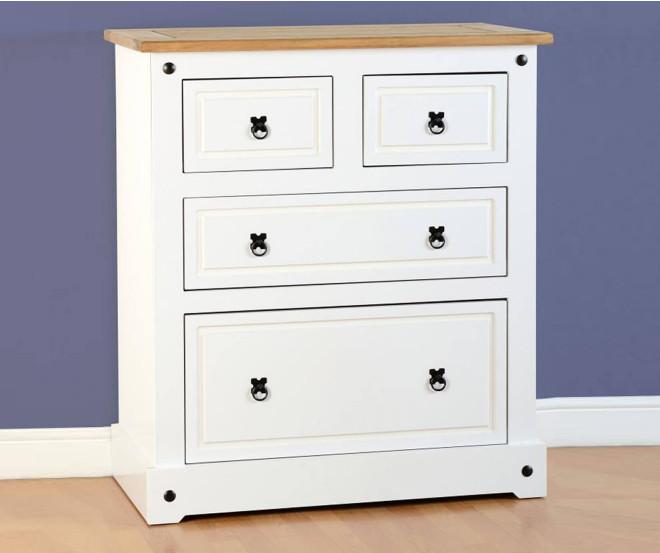 Corona White Distressed Pine Bedroom Set One Stop Furniture Shop