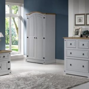 Corona Grey / Distressed Pine Chest Of Drawers