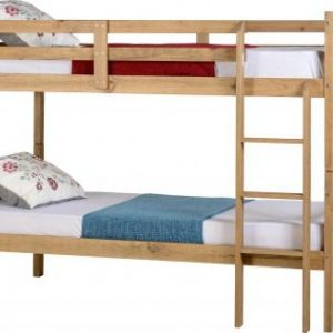 3' Single Distressed Pine Wooden Bunk Bed Frame