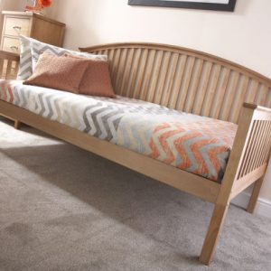 Curved Wooden Day Bed Frame in oak