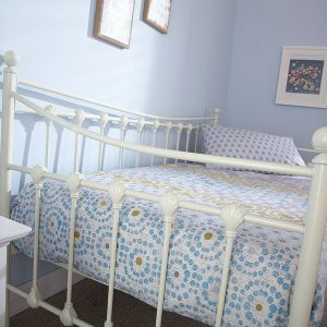 3' Single Metal Day Bed Frame - Ivory