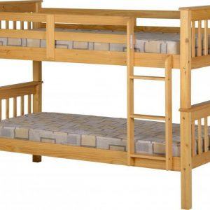 Oak Wooden Split Bunk Bed Frame