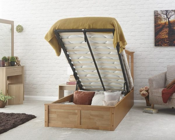 3' Single Wooden Curved Ottoman Low End Bed Frame