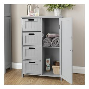 Grey Bathroom Multi Storage Bathroom Unit
