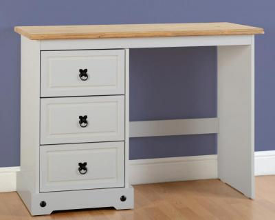 Corona Grey / Distressed Pine 3 Draw Dressing Table