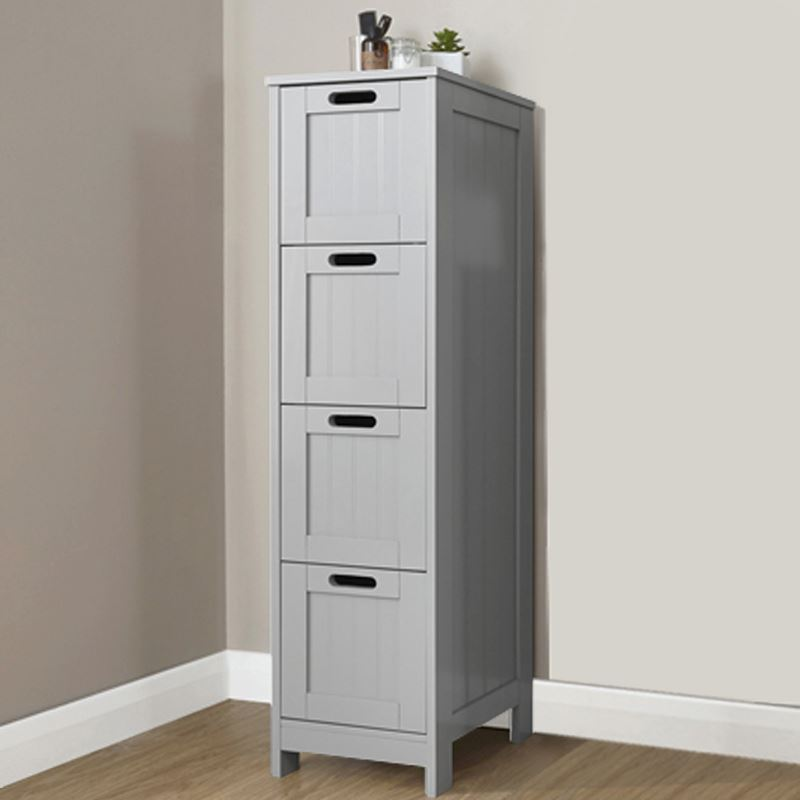 Grey 4 Drawer Slim Chest One Stop Furniture Shop