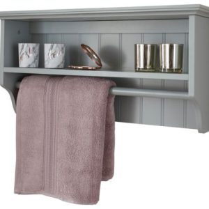 Grey Towel Rail Shelf