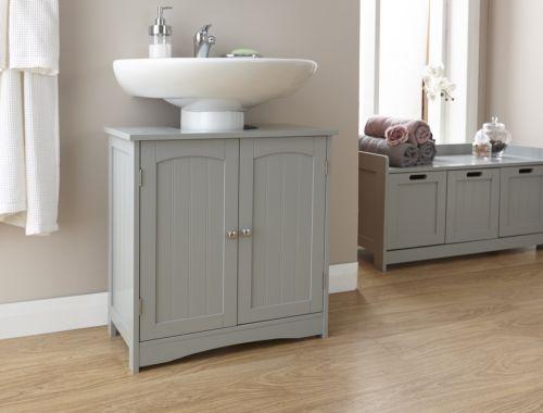 Grey Bathroom Under Basin Unit - Colonial Bathroom Furniture