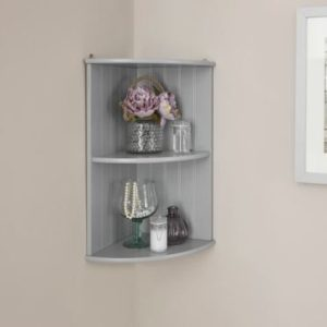 Grey Corner Wall Shelf Unit - Colonial Bathroom Furniture