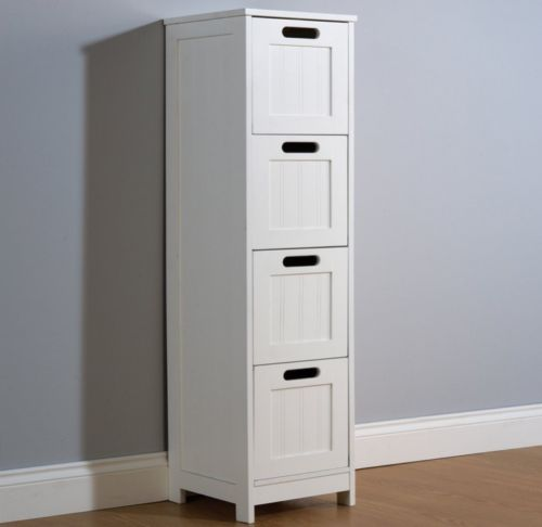 White 4 Drawer Slim Chest One Stop Furniture Shop