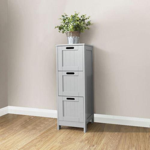 Grey Bathroom 3 Drawer Slim Chest - Colonial Bathroom Furniture