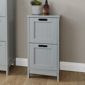 Grey 2 Drawer Slim Chest - Colonial Bathroom Furniture