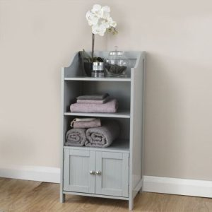 Grey Bathroom 2 Door Deluxe Cupboard