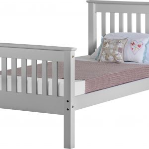 Grey Wooden High End Bed Frame
