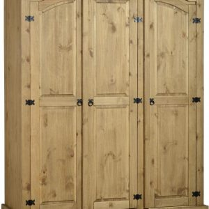 Corona Mexican Pine 3 Door Wardrobe