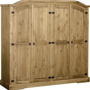 Corona Mexican Pine 4 Door Wardrobe