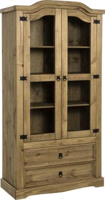 Corona Mexican Pine Glass Display Unit - 2 Sizes Available