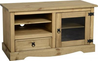 Corona Mexican Pine Entertainment Unit
