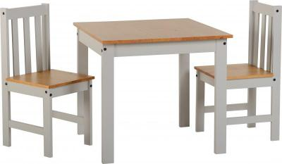 Ludlow Wooden 2 Chair Dining Set - 2 Colours Available