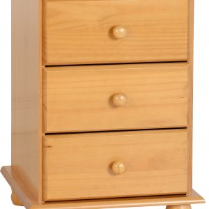 Sol Antique Pine 3 Draw Bedside