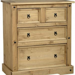 Corona Distressed Pine 2 +2 Drawer Chest
