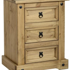 Corona Mexican Pine 3 Draw Bedside *BRAND NEW*