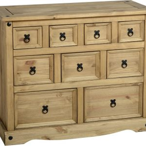 Corona Distressed Pine 4 + 3 + 2 Drawer Chest