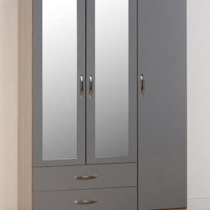 Nevada Gloss 3 Door 2 Draw Wardrobe
